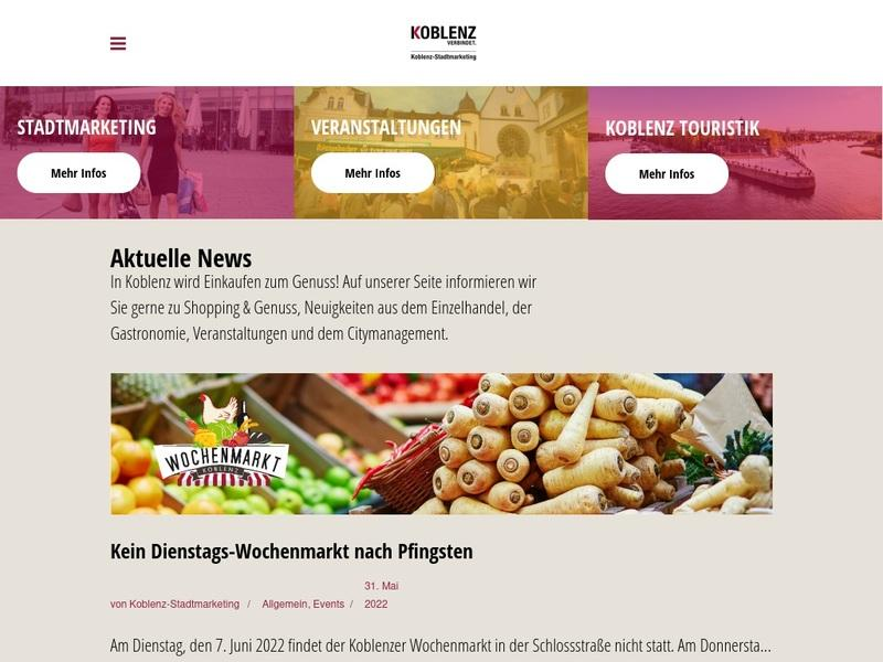 Screenshot von http://www.koblenz-stadtmarketing.de